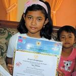 Iga Pebrian, Siswi SD Peraih Juara II Membatik Nasional