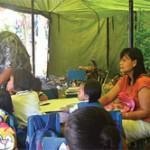 Murid TK Belajar di Tenda Darurat